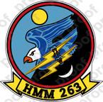 STICKER USMC HMM 263 THUNDER CHICKENS   ooo  USMC LISC NUMBER 19172