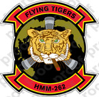 STICKER USMC HMM 262 FLYING TIGERS   ooo  USMC LISC NUMBER 20187