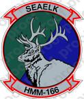 STICKER USMC HMM 166 SEAELK   ooo  USMC LISC NUMBER 19172