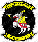 STICKER USMC HMM 165 WHITE KNIGHTS   ooo  USMC LISC NUMBER 20187