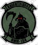 STICKER USMC HMM 164 KNIGHTRIDERS   ooo  USMC LISC NUMBER 19172