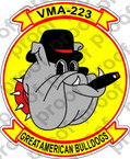STICKER USMC VMA 223 Great American Bulldogs B   ooo  USMC LISC NUMBER 20187