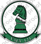 STICKER USMC VMA 121 GREEN KNIGHTS   ooo  USMC LISC NUMBER 20187
