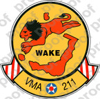 STICKER USMC VMA 211 WAKE ISLAND AVENGERS   ooo  USMC LISC NUMBER 19172