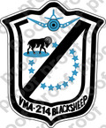 STICKER USMC VMA 214 BLACK SHEEP B   ooo  USMC LISC NUMBER 20187