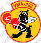 STICKER USMC VMA 223 Great American Bulldogs A   ooo  USMC LISC NUMBER 20187