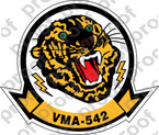 STICKER USMC VMA 542 TIGERS   ooo  USMC LISC NUMBER 20187