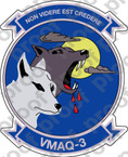 STICKER USMC VMAQ 3 MOON DOGS   ooo  USMC LISC NUMBER 20187