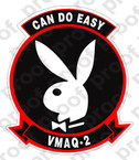 STICKER USMC VMAQ 2 COL EASY   ooo  USMC LISC NUMBER 20187