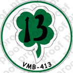 STICKER USMC VMB 413 SHAMROCKS   ooo  USMC LISC NUMBER 20187