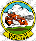 STICKER USMC VMF 155 Ready Teddy   ooo  USMC LISC NUMBER 20187