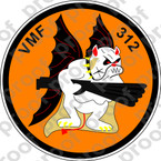 STICKER USMC VMF 312 DAYS KNIGHTS   ooo  USMC LISC NUMBER 20187