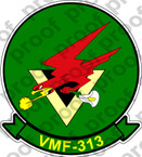 STICKER USMC VMF 313 Lily Packin Hellbirds   ooo  USMC LISC NUMBER 20187