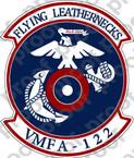 STICKER USMC VMFA 122 FLYING LEATHERNECKS   ooo  USMC LISC NUMBER 19172