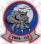 STICKER USMC VMFA 122 WEREWOLVES   ooo  USMC LISC NUMBER 19172
