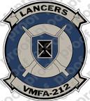 STICKER USMC VMFA 212 LANCERS   ooo  USMC LISC NUMBER 19172
