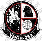 STICKER USMC VMGR 252 OTIS   ooo  USMC LISC NUMBER 20187