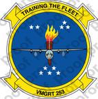 STICKER USMC VMGRT 253 TITANS  ooo  USMC LISC NUMBER 20187
