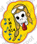 STICKER USMC VMF 514 WHISTLING DEATH  ooo  USMC LISC NUMBER 20187