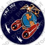 STICKER USMC VMJ 352 RAIDERS   ooo  USMC LISC NUMBER 19172