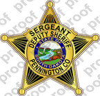 STICKER SHERIFF PENNINGTON SD SERGEANT