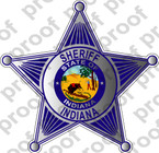 STICKER INDIANA SHERIFF B