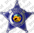 STICKER INDIANA SHERIFF RETIRED B