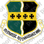 STICKER USAF 9TH STRATEGIC RECON WING