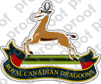 Canadian Forces ROYAL CANADIAN DRAGOONS Badge Sticker B