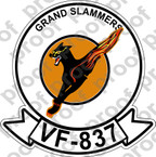 STICKER USN VF 837 GRAND SLAMMERS