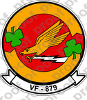 STICKER USN VF 879 RESERVE FIGHTER SQUADRON