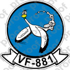 STICKER USN VF 881 RESERVE FIGHTER SQUADRON