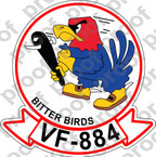 STICKER USN VF 884 BITTER BIRDS