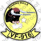 STICKER USN VF 916 ROARING BULLS