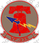 STICKER USN VF 935 RESERVE FIGHTER SQUADRON