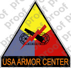 STICKER ARMY USA ARMOR CENTER