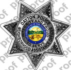 Sticker Police Daytona Beach NAO Badge