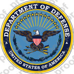 STICKER UNITED STATES DEPARTMENT OF DEFENSE OLD