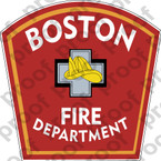 STICKER CIVIL BOSTON FIRE DEPARTMENT