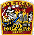 STICKER FIRE DEPT ENGINE 22 ALLEY CATS