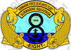 STICKER USN Commander Submarine Squadron 8 COMSUBRON Eight