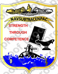 STICKER USN NAVSUBTRACENPAC Pearl Harbor