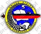 STICKER USN US NAVY SUBMARINE SCHOOL COLOR