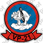 STICKER USN AVU VP 21 FLYING ELEPHANT 1944