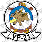 STICKER USN AVU VP 21 FLYING ELEPHANT 1948