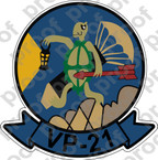 STICKER USN AVU VP 21 TRUCULENT TURTLE 1954