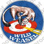 STICKER USAF F16 WILD WEASEL ONE