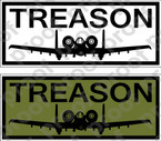 STICKER USAF A10 TREASON