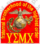 STICKER USMC GREEK