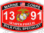STICKER USMC MOS 1391 BULK FUEL SPECIALIST ooo Lisc No 19172